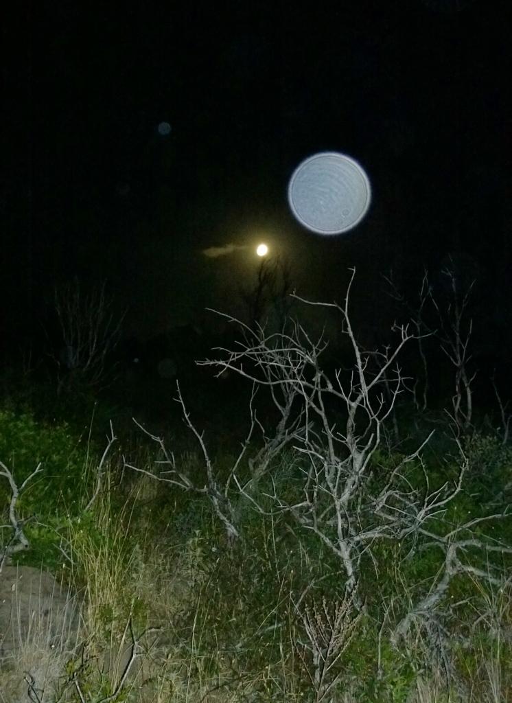 Luna piena con orbs - sabato 12 luglio 2014, Monte Arcuentu