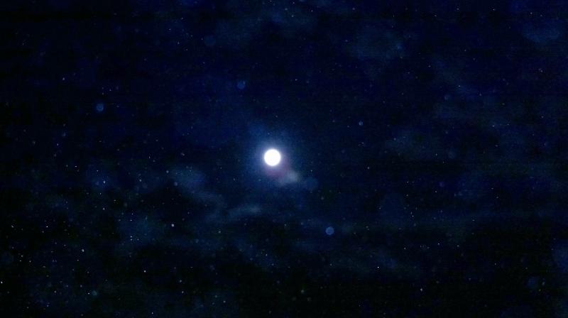 Luna piena del 12 luglio 2014 con orbs