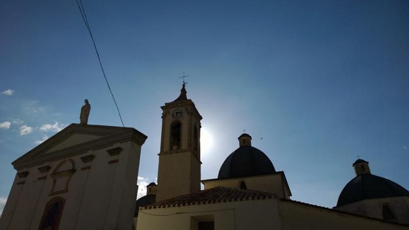 Baunei - Chiesa di San Nicola al tramonto