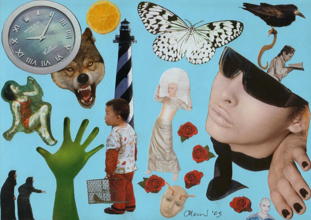 Tempo sospeso - collage di Momi Zanda